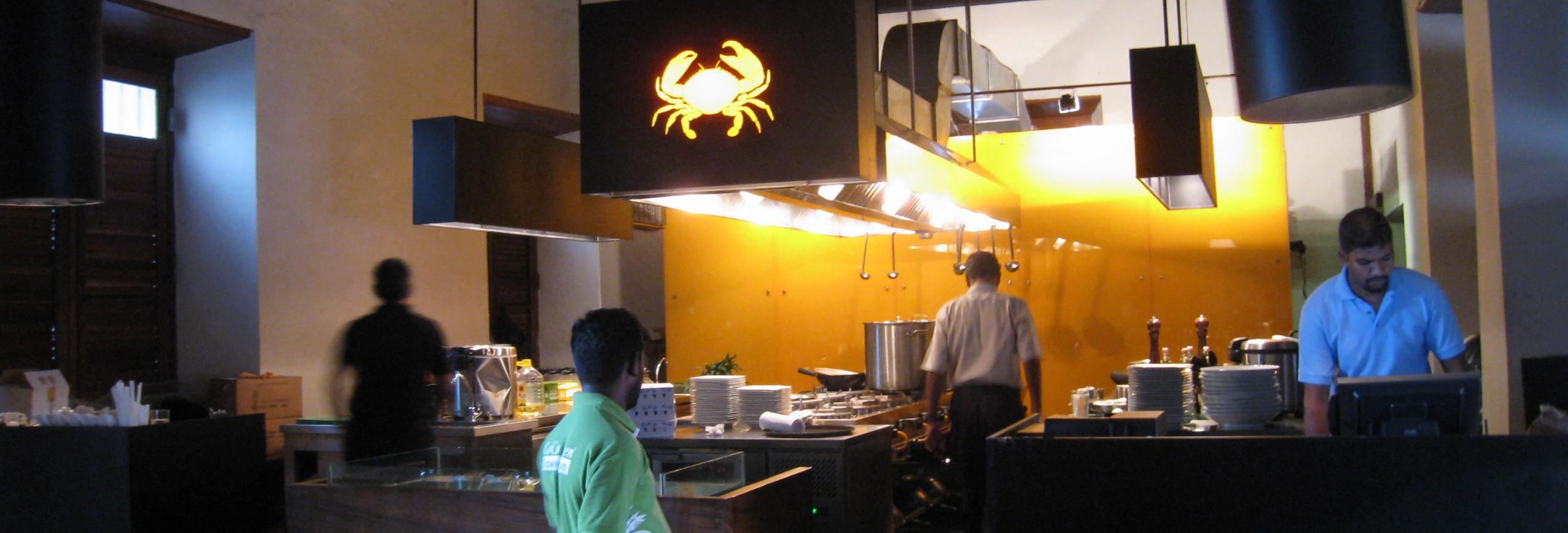 スリランカンクラブ(カニ)を出すレストラン