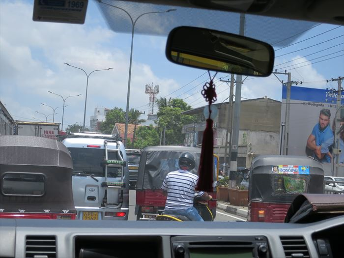 コロンボ市内の渋滞