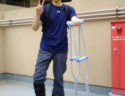 アキレス腱手術の直後