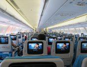 スリランカ航空の機内
