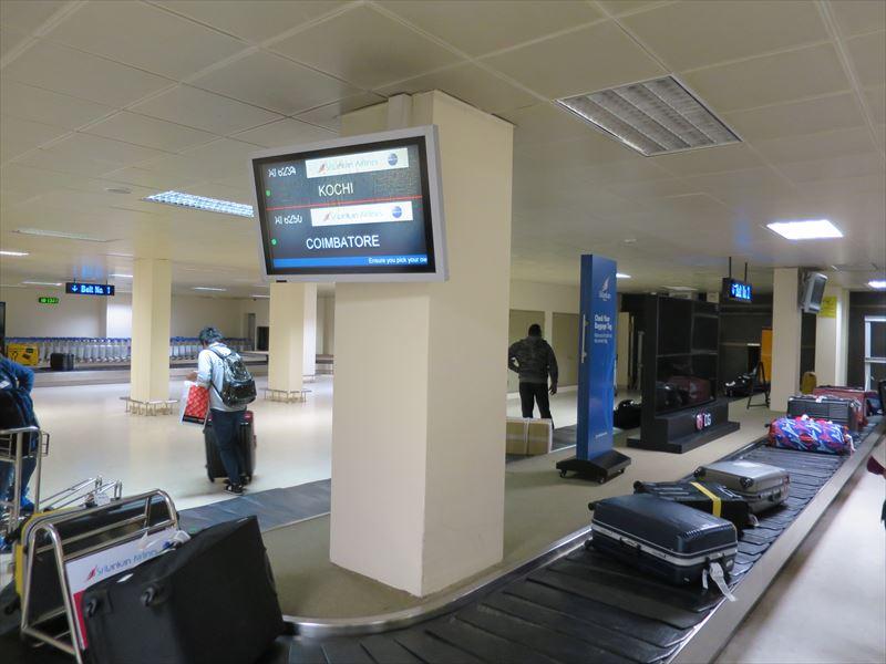 コロンボ空港のターンテーブル